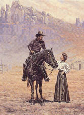 Western artwork from L.D. Edgar, Cody Wyoming, including prints, bronzes, greeting cards and more